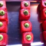 Fresas con mostaza finas hierbas