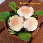 tartaletas huevos jamon